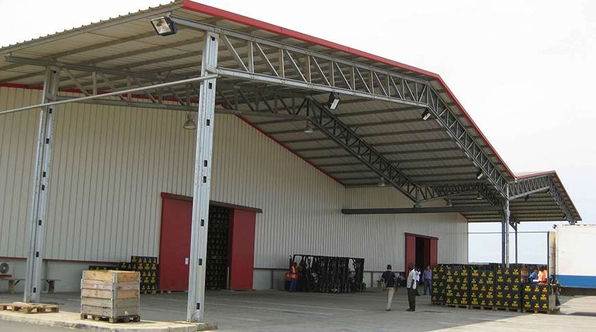 production hall PEB steel industrial buildings