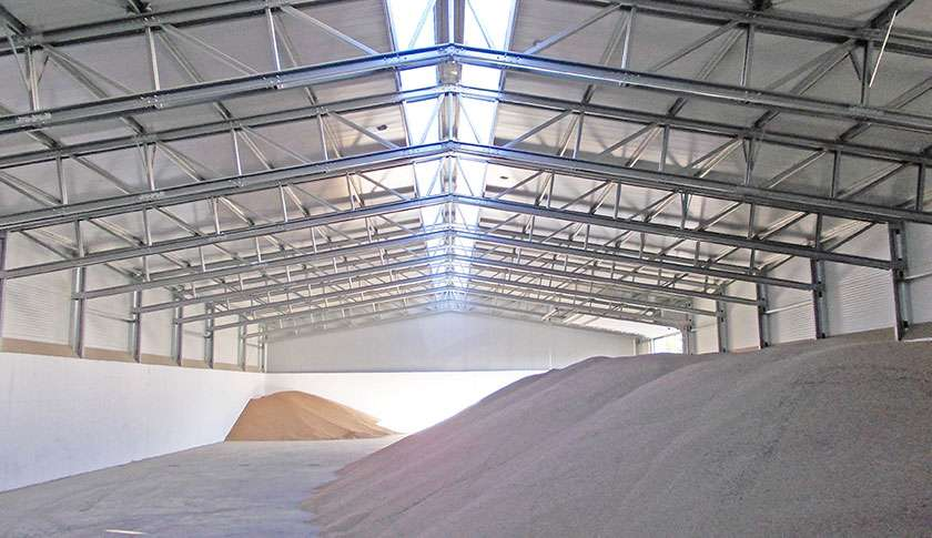 bulk storage industrial steel building